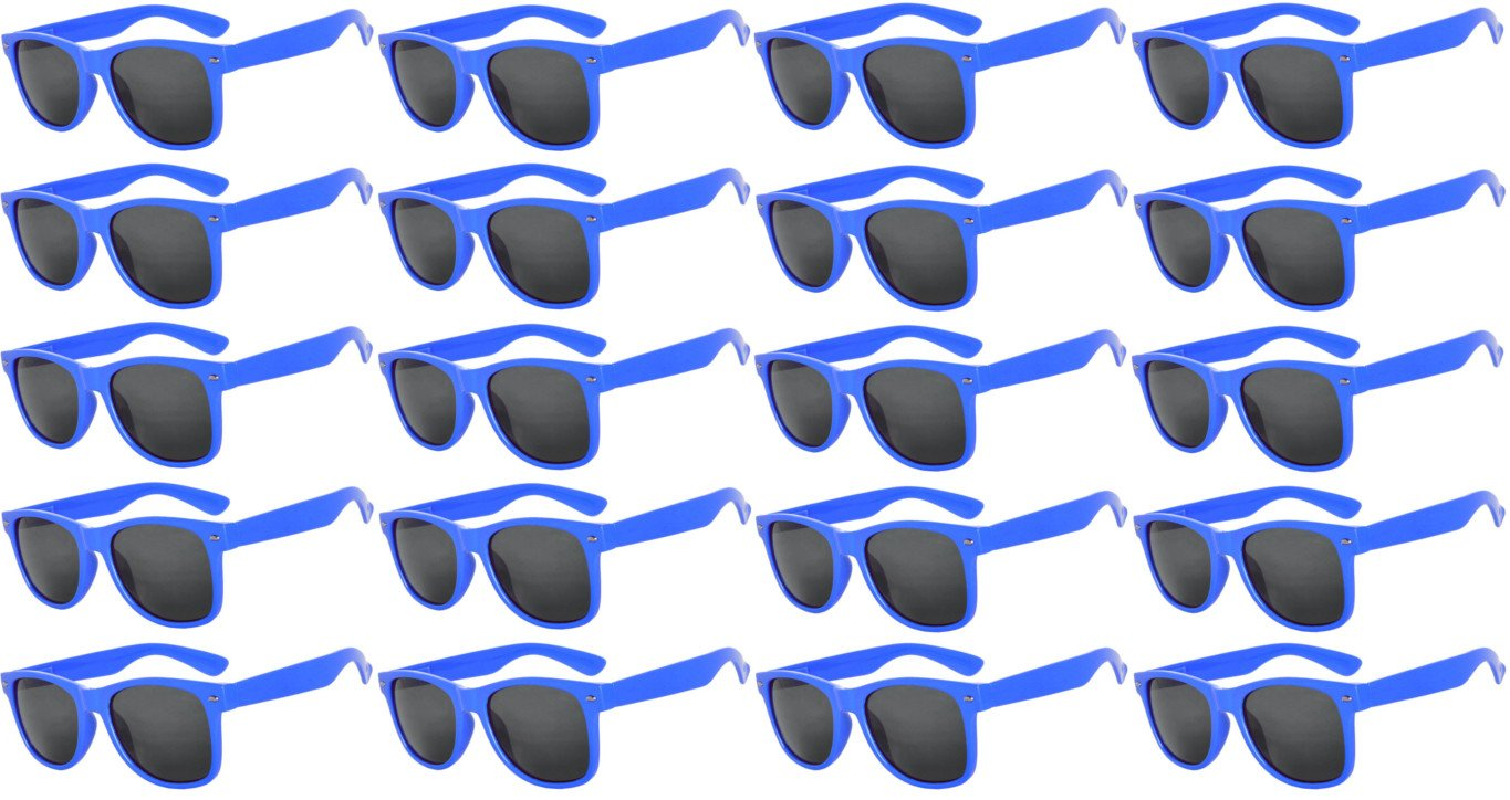 20 Pairs Kids Polarized Smoke Lens Sunglasses Anti Glare Blue Dark