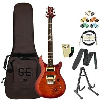 Paul Reed Smith guitarras cm4 F30cs-kit-01 se custom24 30º aniversario de la llama de madera de cerezo Top Guitarra eléctrica: Amazon.es: Instrumentos ...