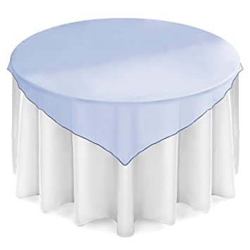 Amazon Lanns Linens 5 Organza Overlay Table Toppers 72