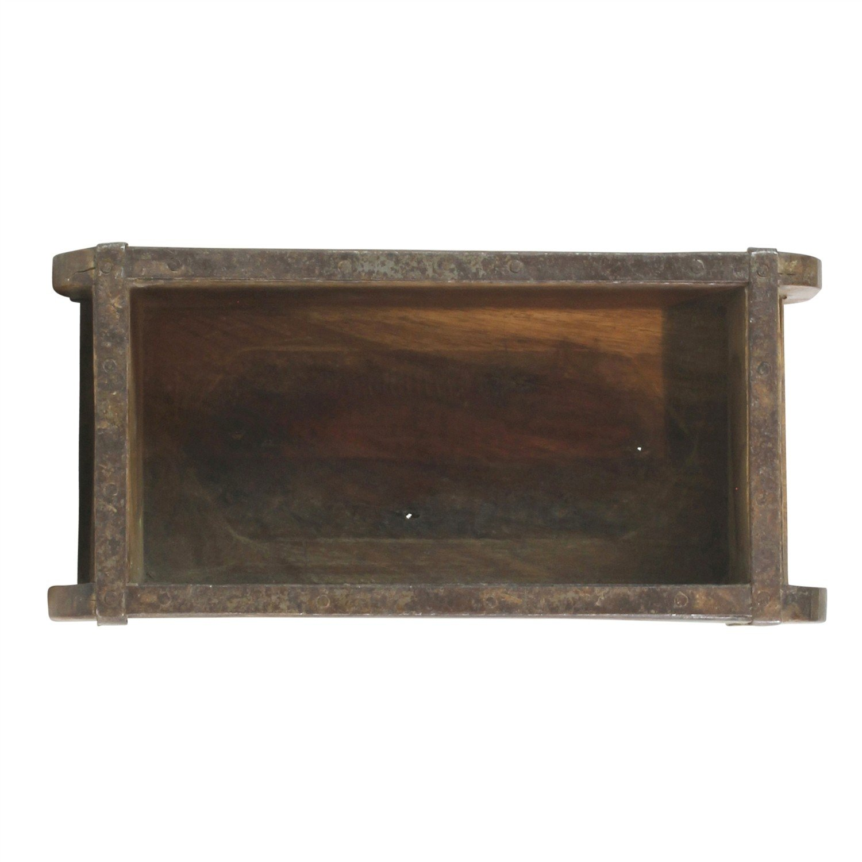 Amazoncom Vintage Wood Brick Mold Shadow Box - Wall Shelf