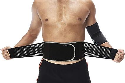 Back Support Brace Wide Belt Lumbar Lower Waist Adjust Trimmer Breathable