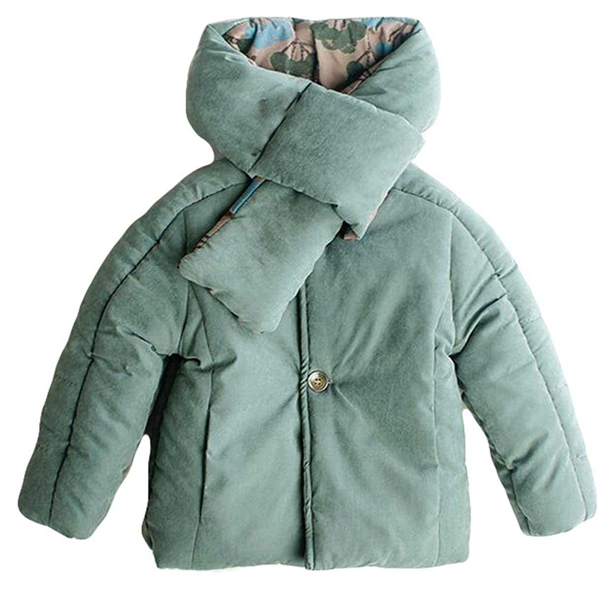 bleu petit YXMAHW Boy Court Paragraphe Manteau d'hiver Col Matelassé