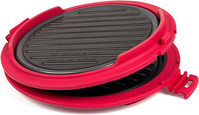 B.Bad 70120 - Grill para microondas redondo, color