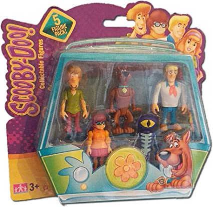 Scooby Doo Mystery Solving Crew paquete de 5 figuras Fred Velma Shaggy Scooby Daphn