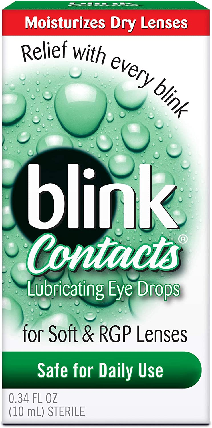 blink Contacts Lubricating Eye Drops 0.34 oz (Pack of 4)