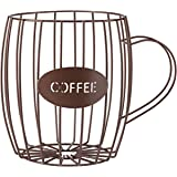 Miles Kimball Coffee Cup Wire Basket, Brown, One Size Fits All
