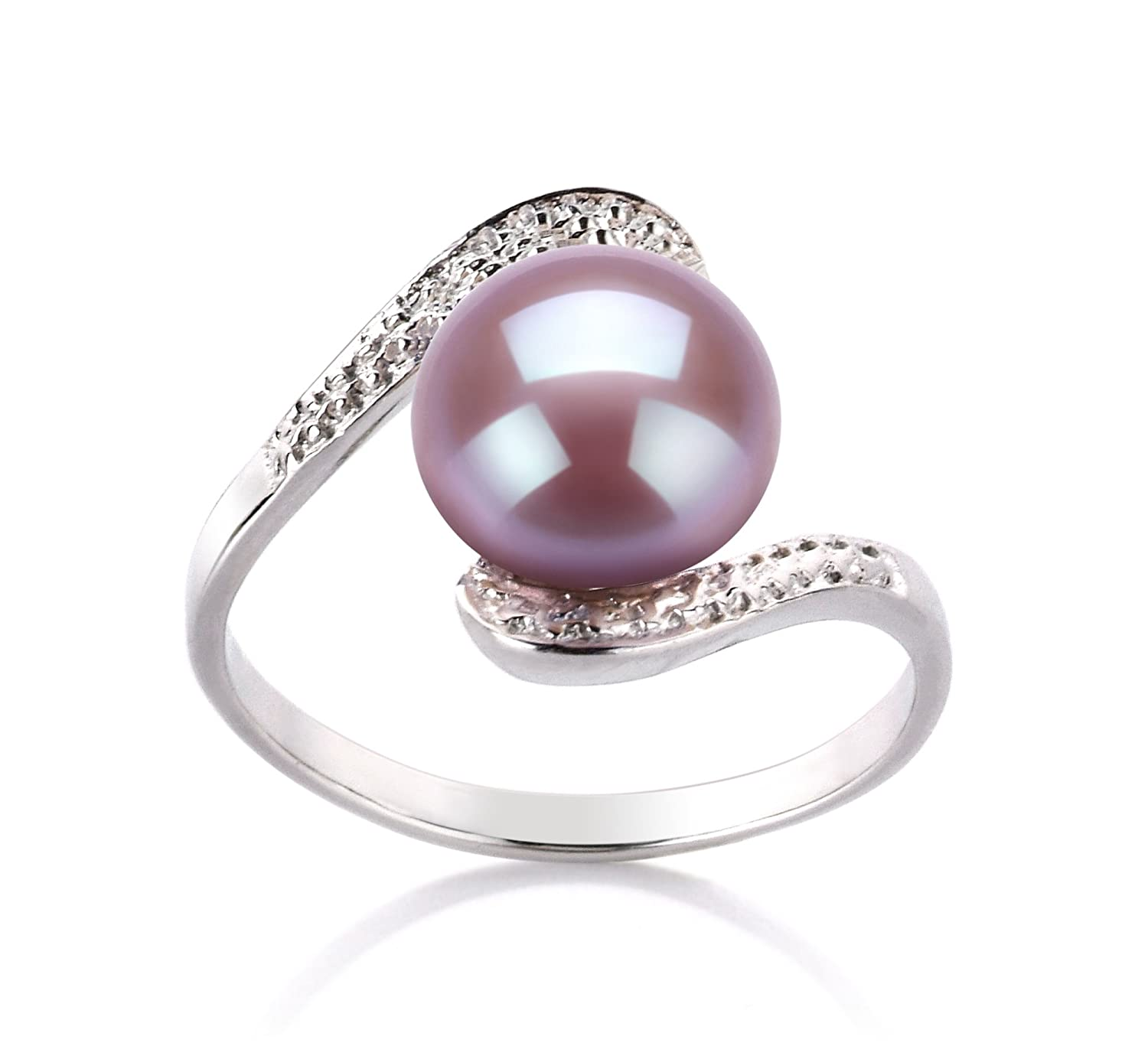 Lavender 9-10mm AA Quality Freshwater 925 Sterling Silver Cultured Pearl Ring