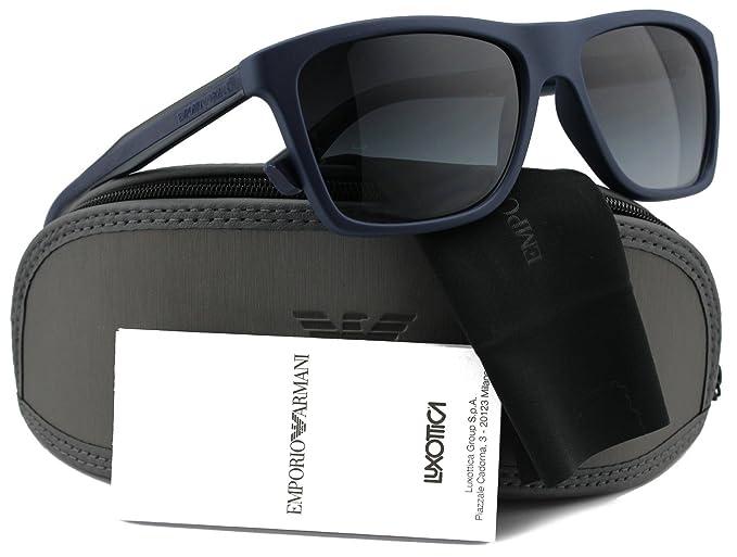 3407727bb45 Image Unavailable. Image not available for. Colour  Emporio Armani EA4001 Men  Sunglasses Blue w Grey Gradient (5065 8G) EA