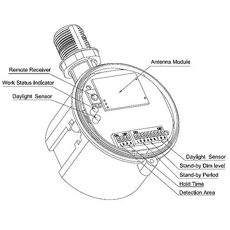 Hykolity 360 Degree Microwave Motion Sensor Ip65 Rating Waterproof
