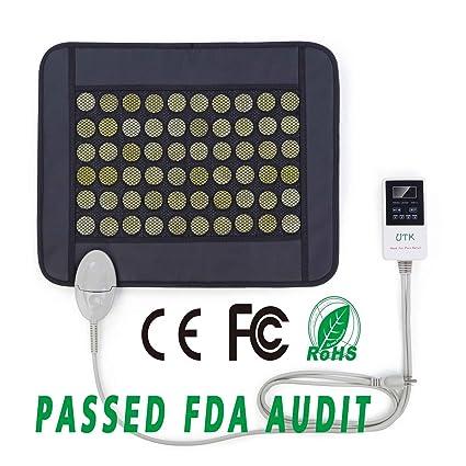 Almohadilla térmica UTK pequeña de jade natural con infrarrojo lejano para alivio del dolor (38