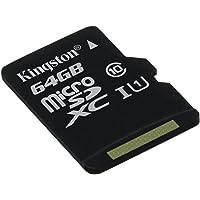 Kingston SDCS/64GBSP - MicroSD Canvas Select  velocidades de UHS-I Clase 10 de hasta 80 MB/s lectura ( sin adaptador SD )
