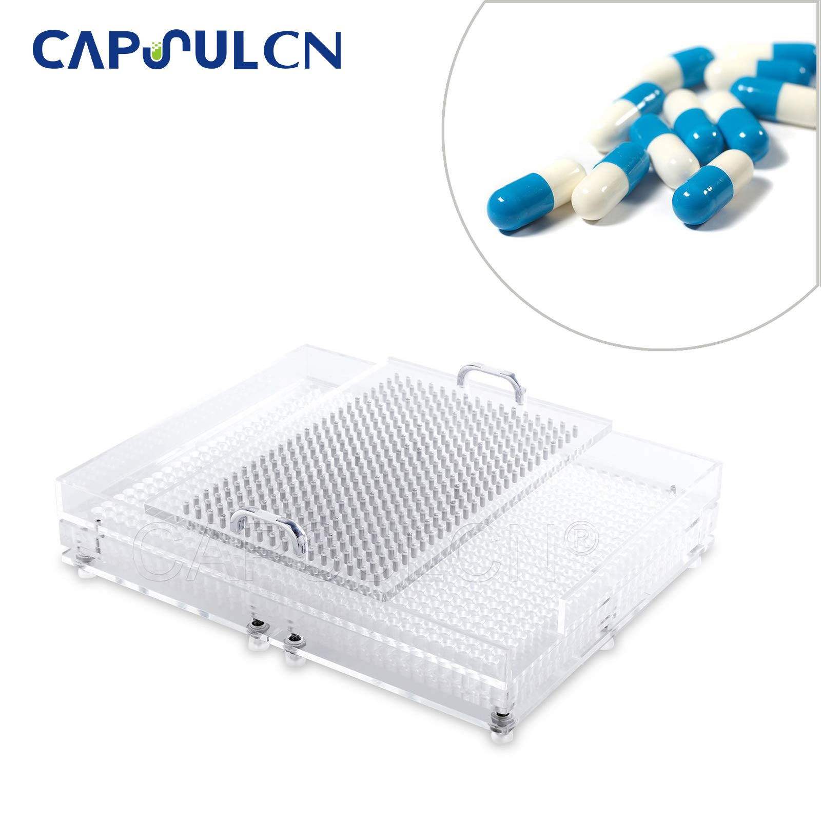 New Acrylic CN-800CL 800 Holes Manual Capsule Filling Machine Size 0 4000 pcs/Hour