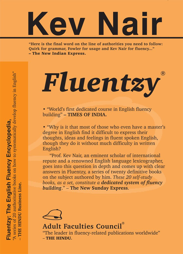 Book cover for request_ebook Prof Kev Nair s Fluentzy The Fluency Development Course