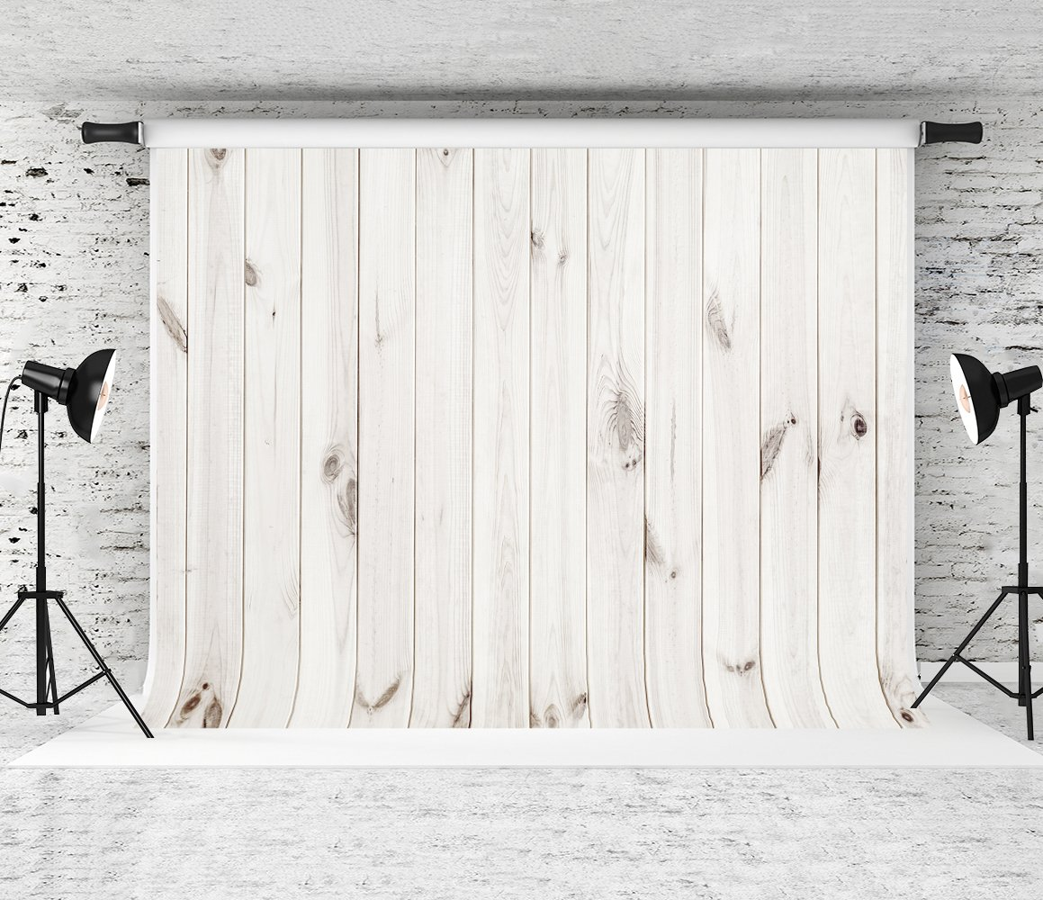Kate 7x5ft Wood Backdrop White Wood Pattern Photo Background Cotton Collapsible Party Decoration Backdrops