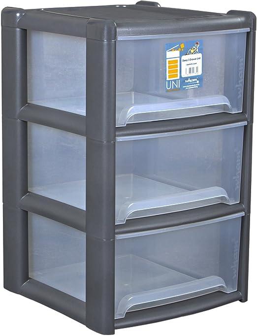 Plástico Estante 39 x 65 cm Con 3 cajas apto para alimentos en ...