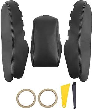 Black Car Center Armrest Box Leather Case Cover Trim For Honda Civic 2016-2018