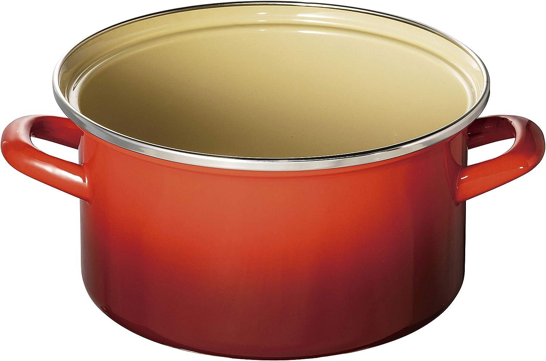 ル・クルーゼ(Le Creuset)  ホーロー 鍋 EOS キャセロール 20 cm チェリーレッド ガス IH 対応  【日本正規販売品】