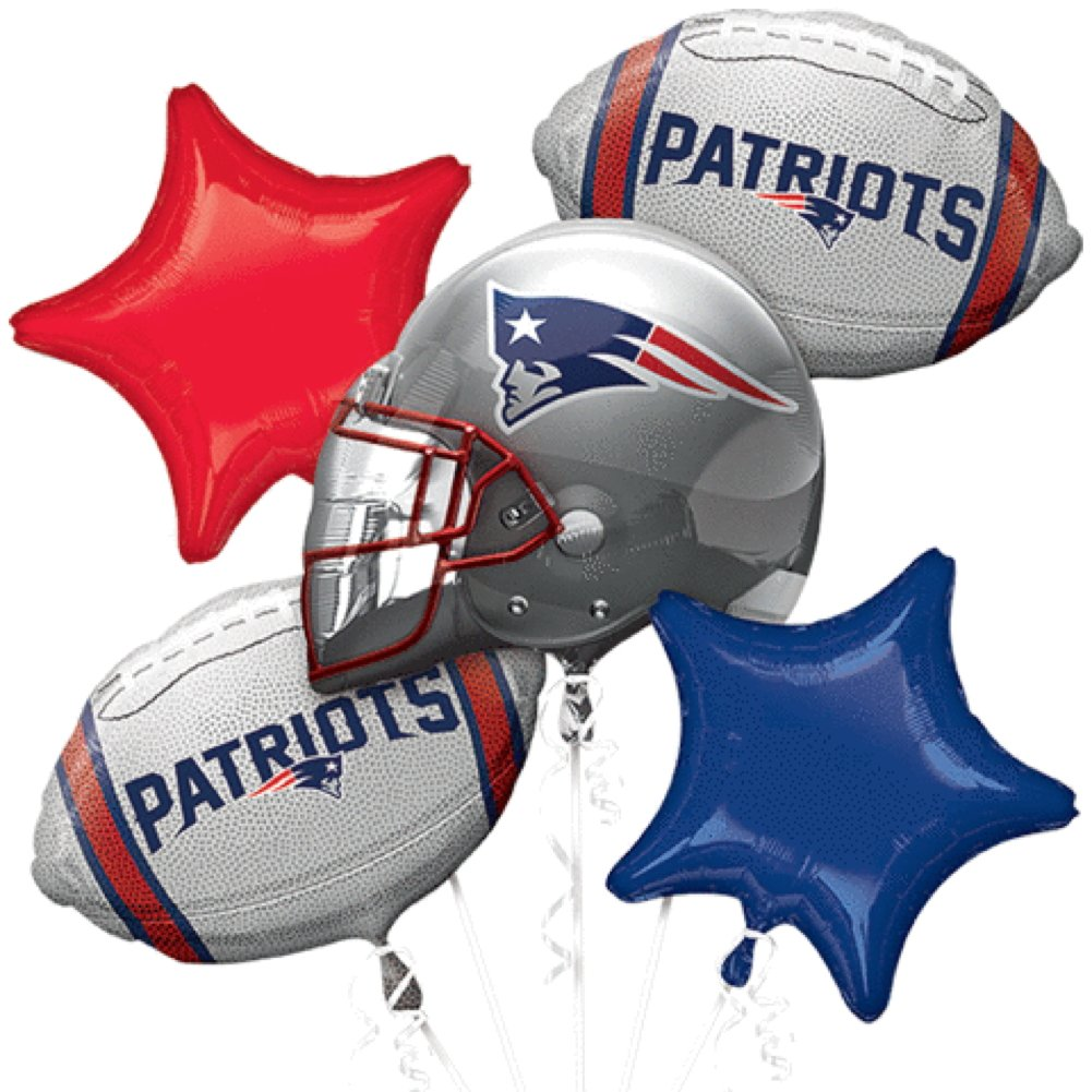 Anagram Bouquet Patriots Foil Balloons, Multicolor