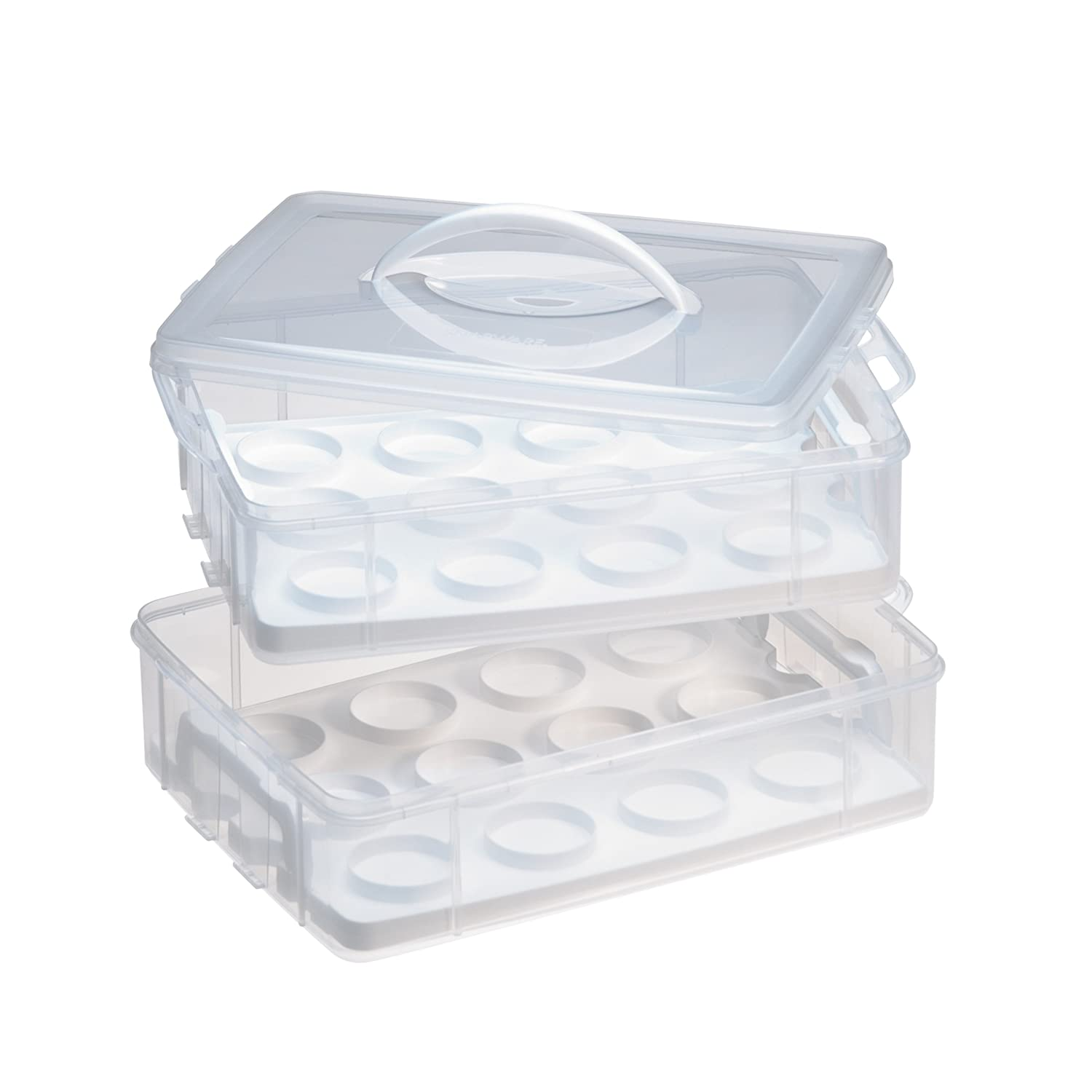 Snapware Snap 'N Stack Enter-Tainers 2-Layer Cookie, Cake and Brownie Carrier