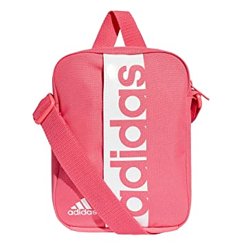 5eb23a5b8f adidas Linear Performance Sac d'écolier Mixte, Real Pink/White, 15 x ...