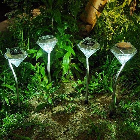Liquidación! WATOPI - 4 luces solares para camino de jardín con ...