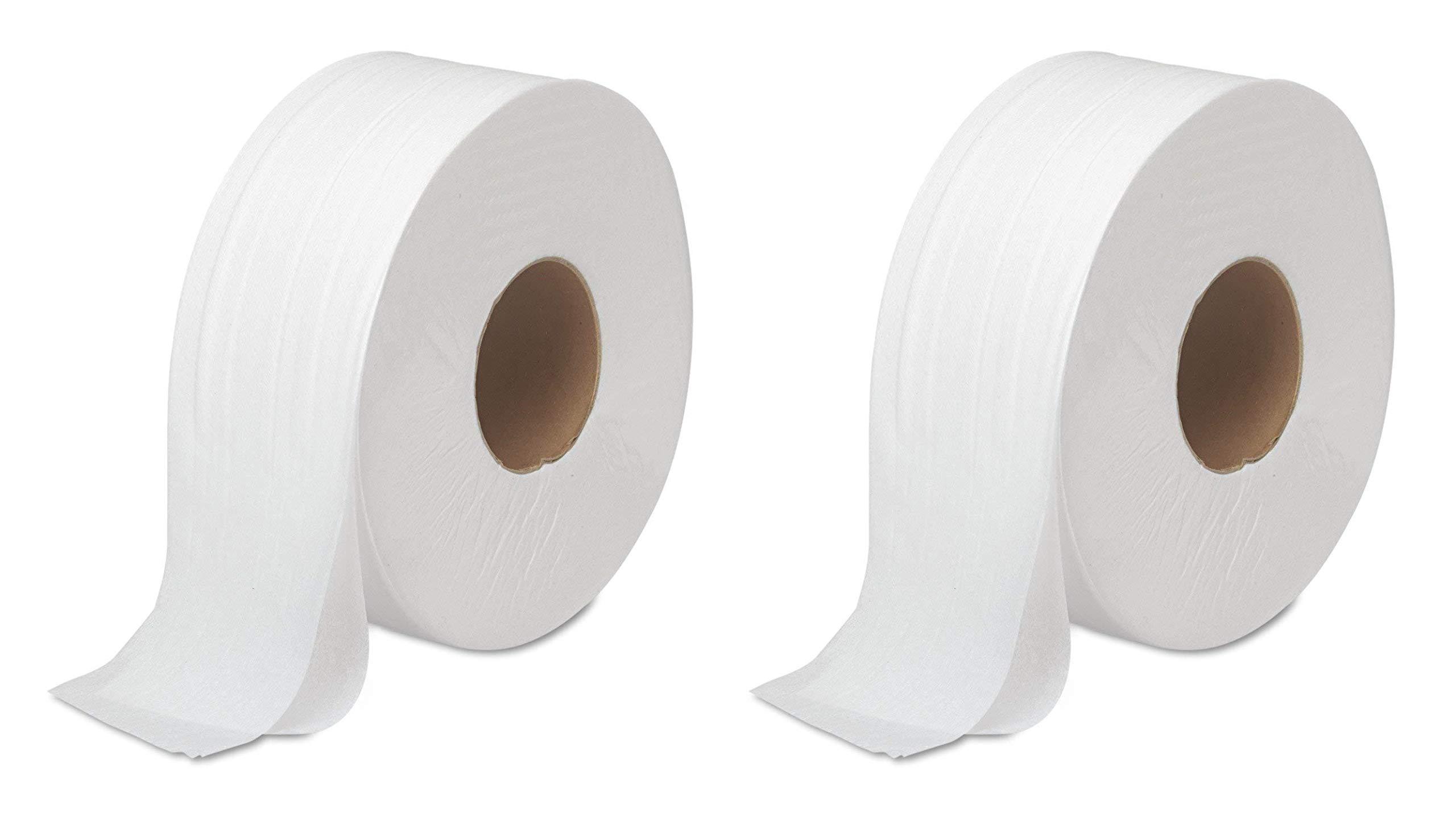 Boardwalk 6100 JRT Bath Tissue, Jumbo, 2-Ply, White, 1000 Ft/roll, 12 Rolls/Carton