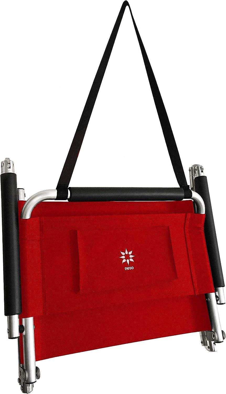 Neso Paquete de 2 sillas de Playa Resistentes al Agua Ligeras Color Correa para el Hombro y Bolsillo Deslizante: Pliegues Finos