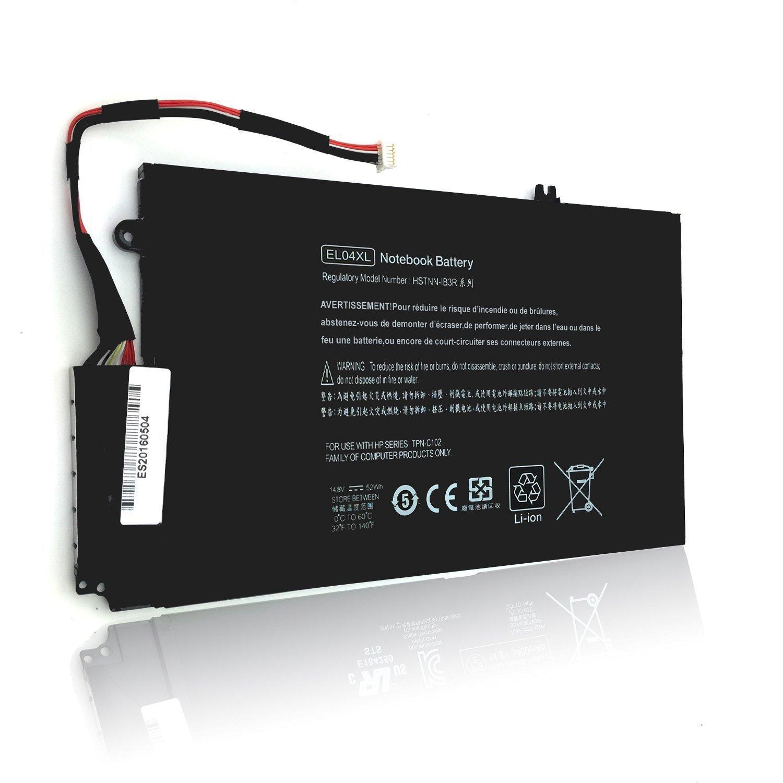 Bateria EL04XL para HP Envy TouchSmart 4-1000 TPN-C102 HSTNN-IB3R 14.8V 52wh/3400mAh