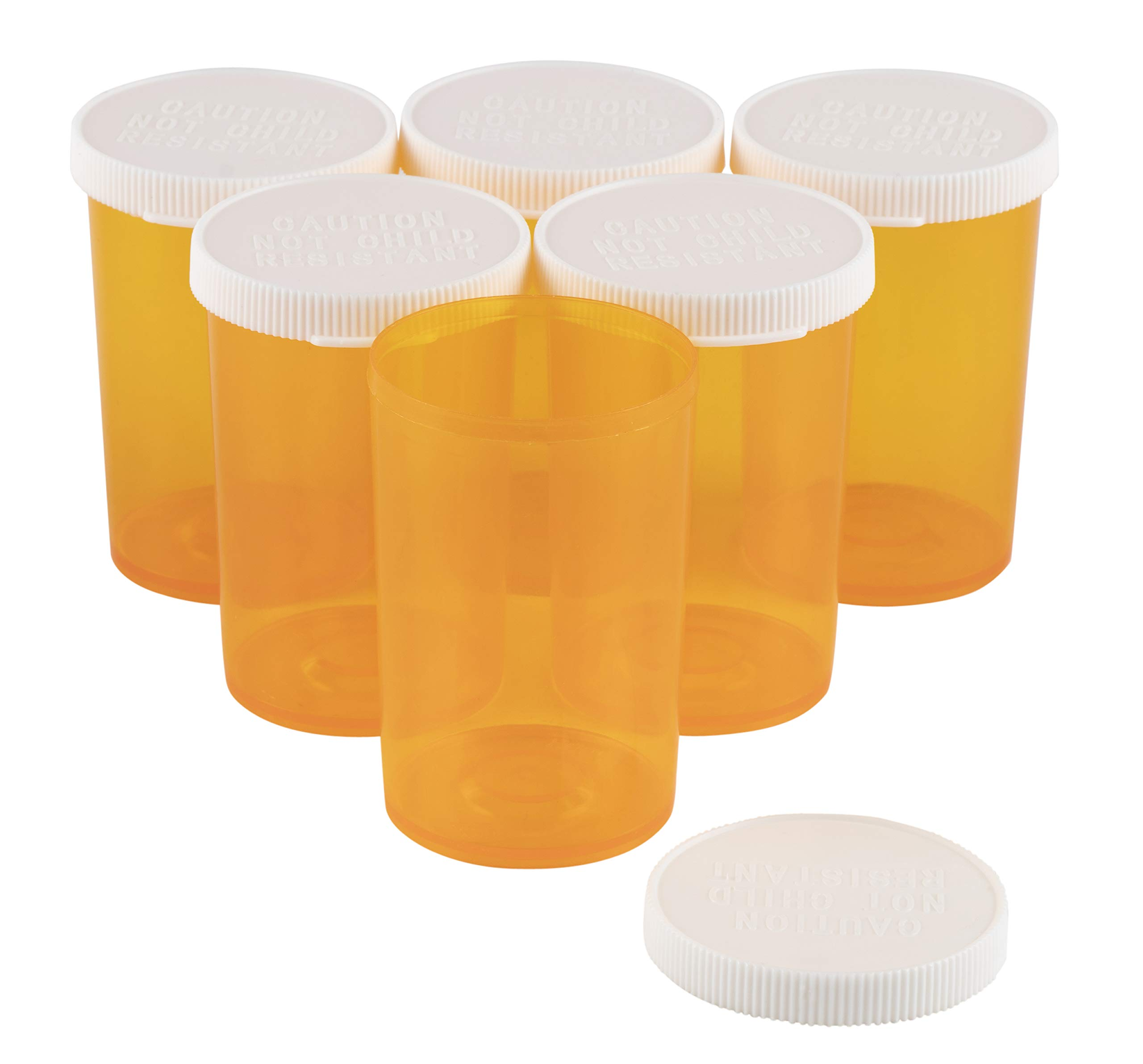 Juvale Empty Prescription Pill Vial Container 20 Dram Bottles (50 Count) by Juvale