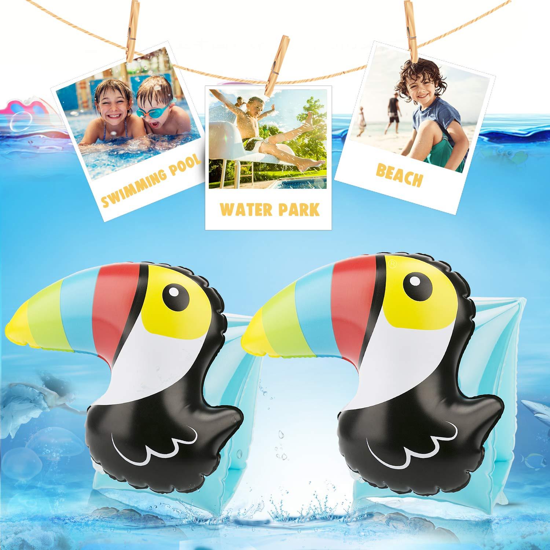 NIWAWA 2 STÜCKE Schwimmflügel Kinder Aufblasbare für Kinder 3-7 Jahre , Die maximale Tragfähigkeit beträgt 30KG