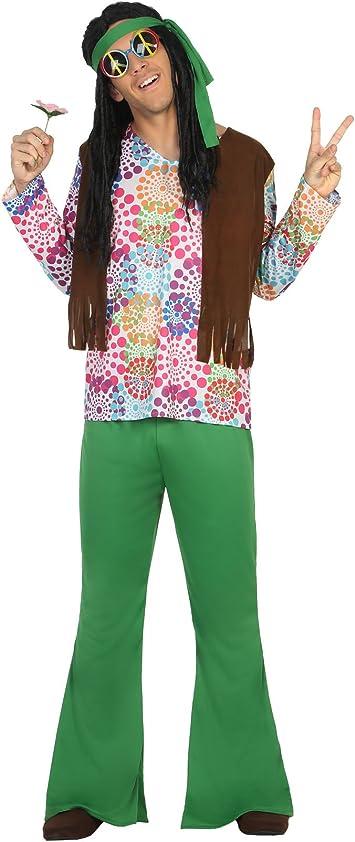 Atosa-16494 Disfraz Hippie, Color Verde, M-L (16494): Amazon.es ...