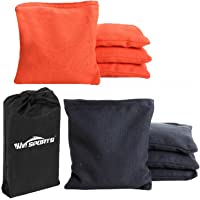 Win SPORTS Premium All-Weather Duck Cloth Cornhole Bean Bags – Set of 8 Bean Bags for Corn Hole Game – Choose Your Colors