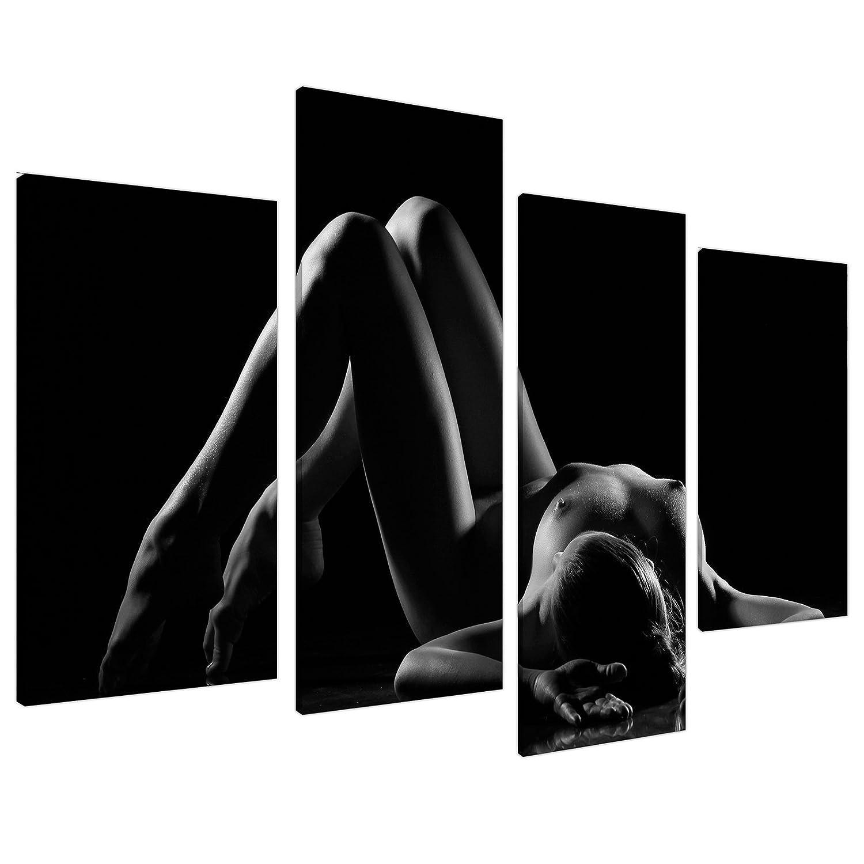 Black White Erotic Bedroom Canvas Wall Art Pictures XL Set Prints 4082:  Amazon.co.uk: Kitchen & Home