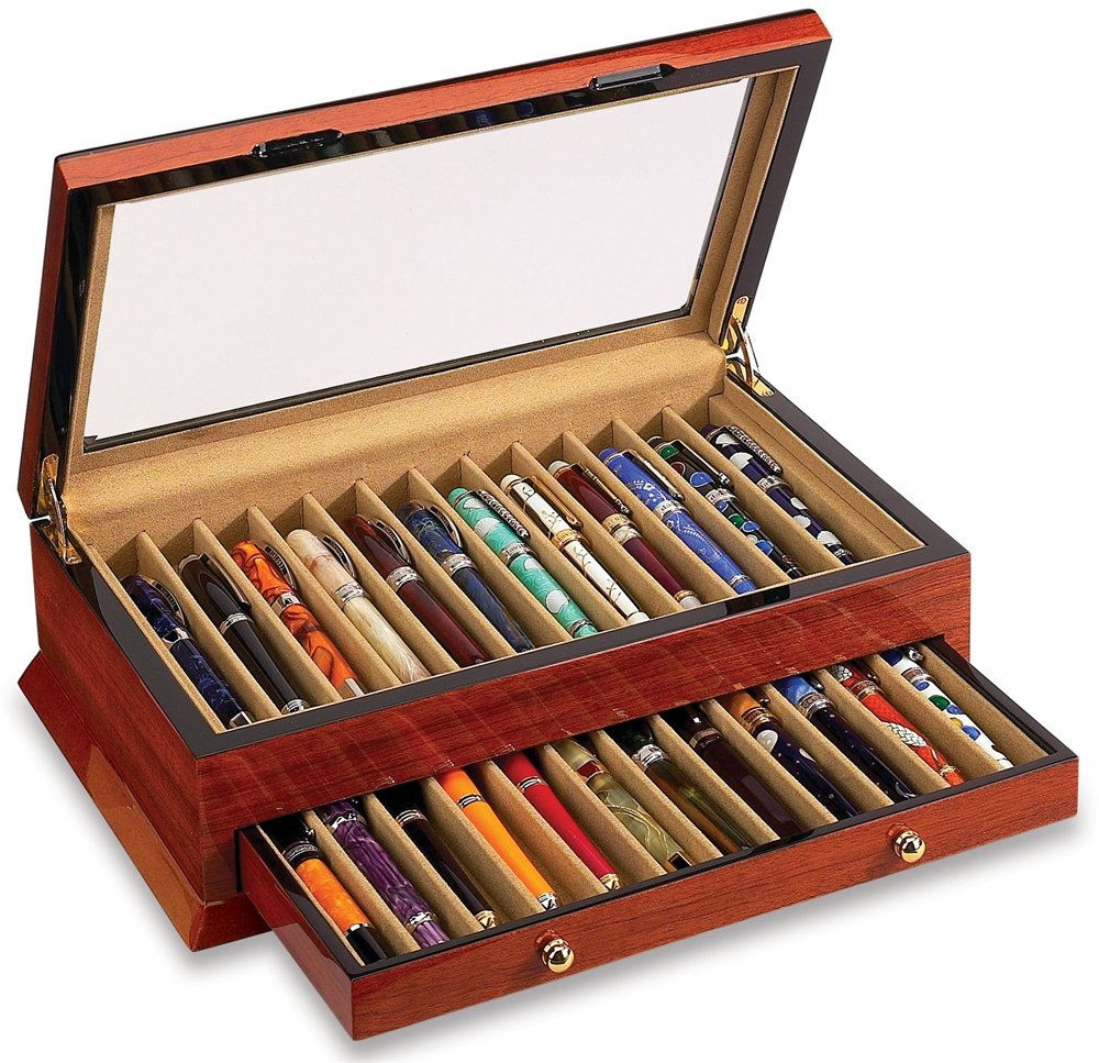 Vox Luxury Pen Holder 24 Pen With Case - Rosewood X-PC-24-B