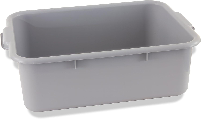 Crestware Heavy-Weight Bus Tub, 5-Inch, Gray