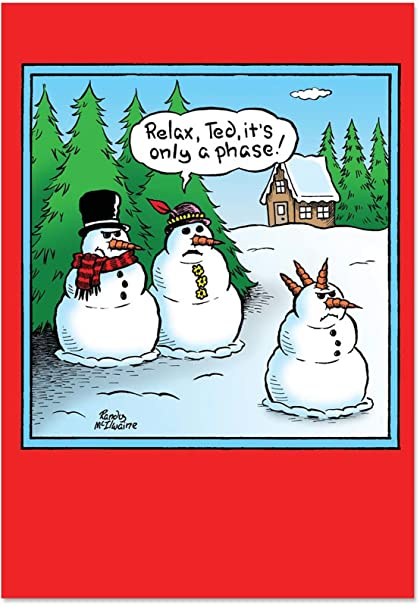 5766 only a phase funny merry christmas greeting card with 5 x - Funny Merry Christmas Greetings