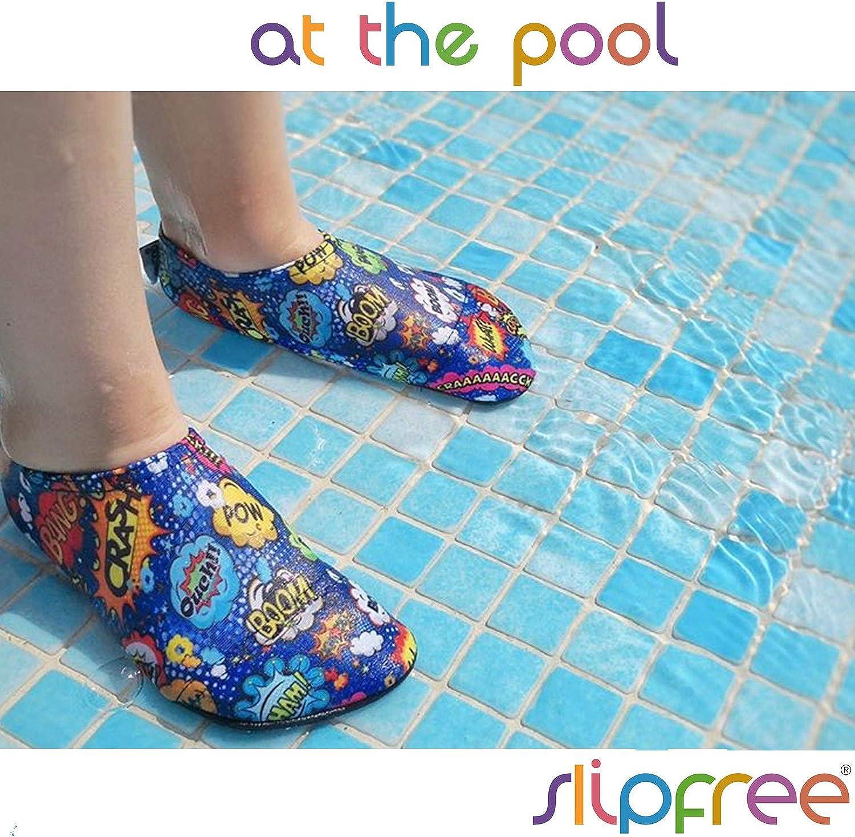 Biancha Slipfree Water Shoes for Beach Girls Non-Slip UPF50+ Barefoot Swim Pool and Home Infant