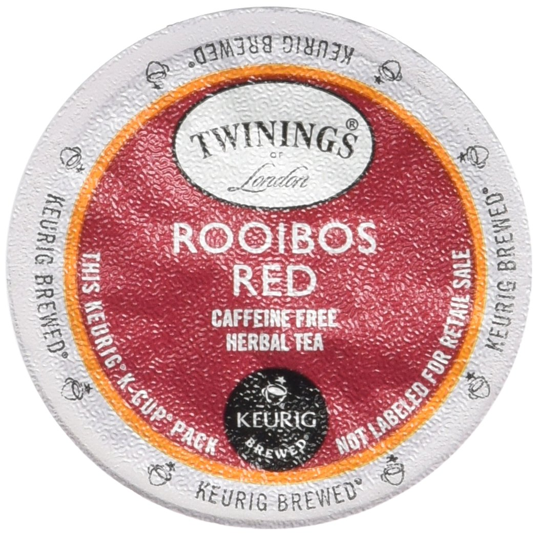 Twinings of London Rooibos Red Tea K-Cups for Keurig, 24 Count (Pack of 2)