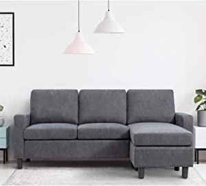 Walsunny Convertible Sectional Sofa Couch with Reversible Chaise