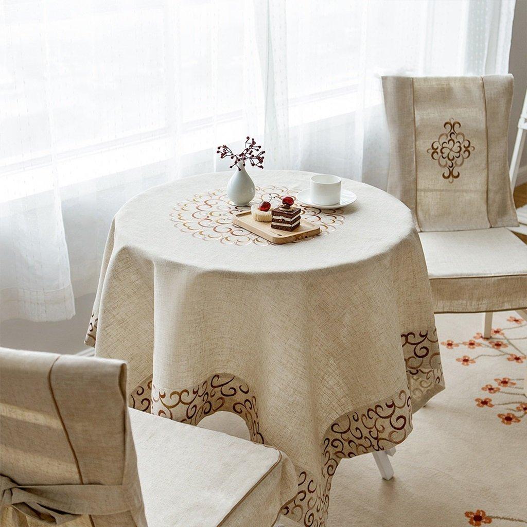 130cm180cm RenShiMinShop Linge de maison Broderie Table à hommeger Table basse Rectangulaire Nappe (Taille   120cm180cm)
