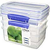 Sistema Klip It Klip It Pack 1 Litre x 3 Food Storage Container, Clear