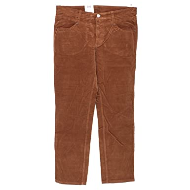 MAC Amy Rivet New, Damen Jeans Hose, Nadelcordstretch, cocnacbraun, D 46 L