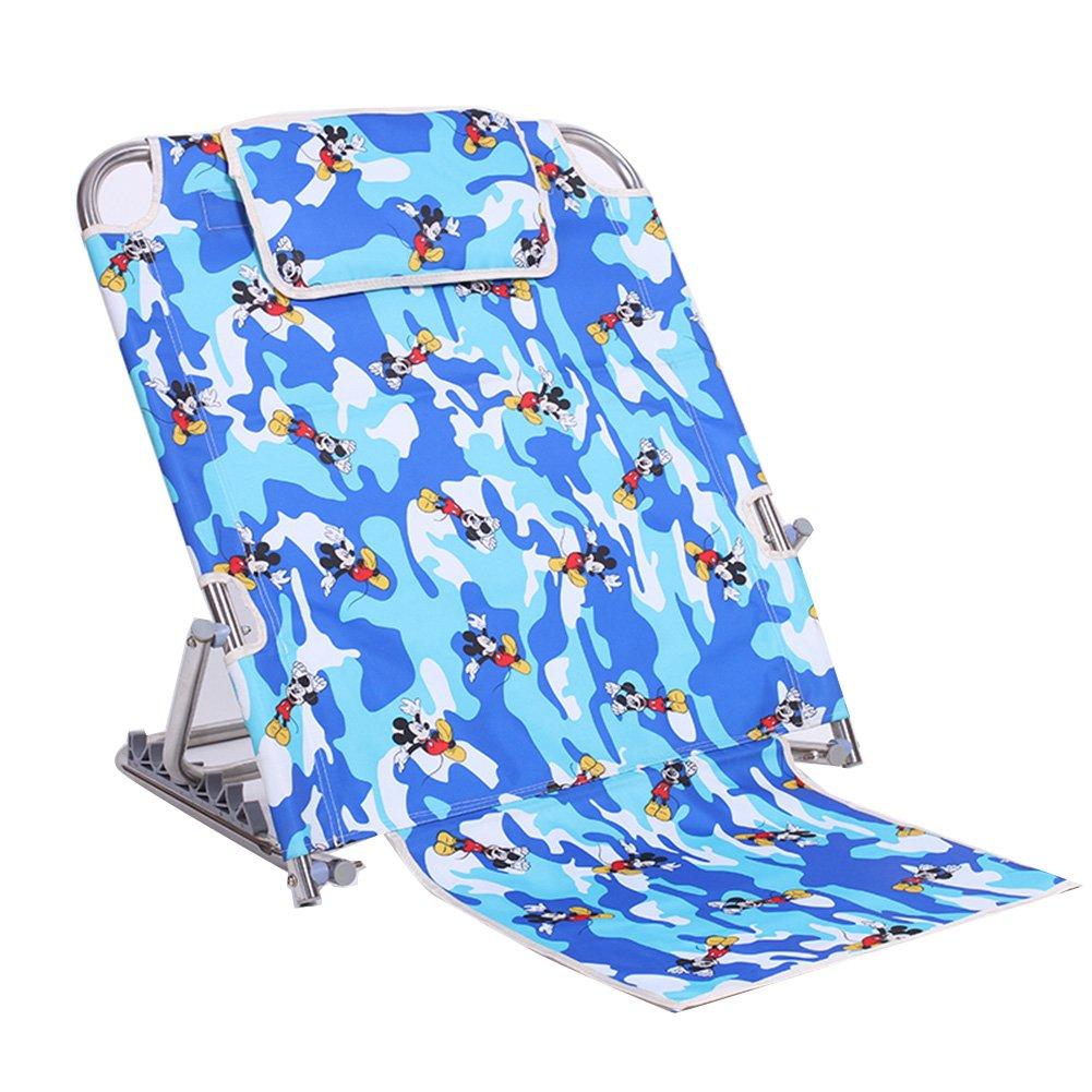LIANGLIANG Boden Stuhl Zusammenklappbarer Unterstützungsstuhl der Multifunktions Breathable Metall, Hohe 34-65cm 2 Farben