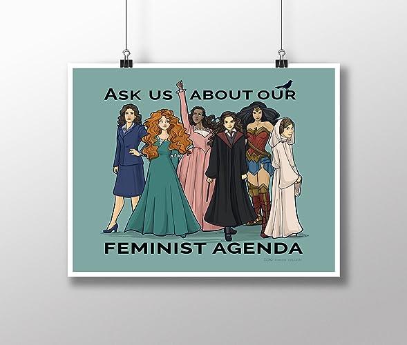 Amazon.com: Feminist Agenda Medium 11x14