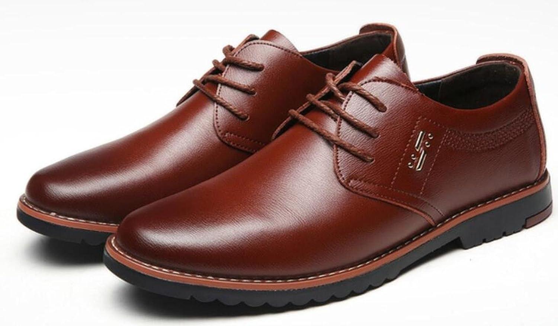 LEDLFIE Echtes Geschäft Leder-Schuhe der Männer Freizeit Mode Geschäft Echtes Breathable Lederschuhe Braun 9b2a66