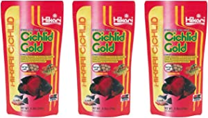 (3 Pack) Hikari Cichlid Gold Floating Pellets Large, 8.8-Ounce