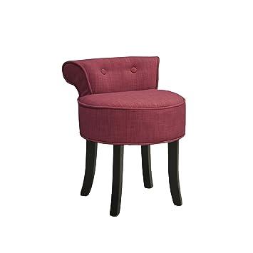 Corazon Petit fauteuil boudoir rouge cerise Rouge - Alinea 43.0x57 ...