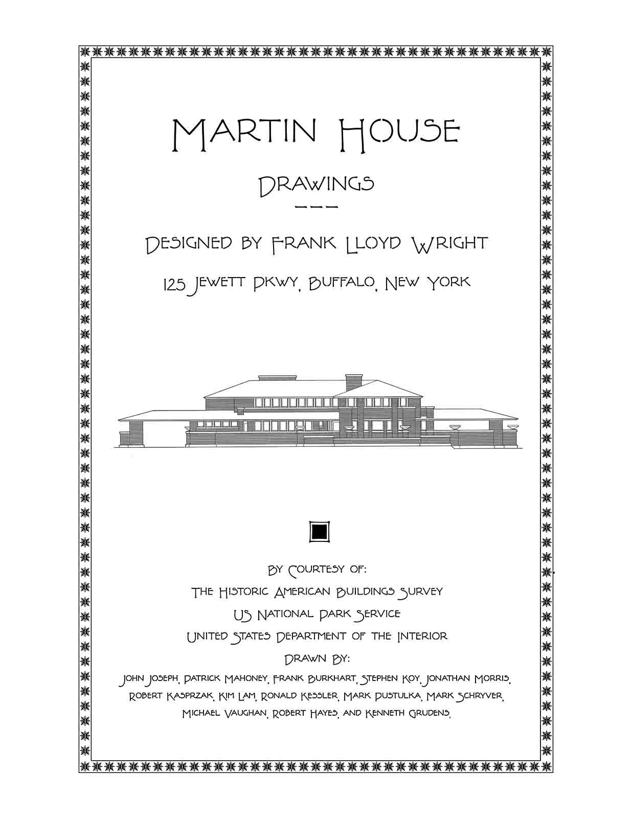 Martin House Drawings Designed By Frank Lloyd Wright J Randal Jewett Wiring Diagram Wilkerson 9781926517186 Books