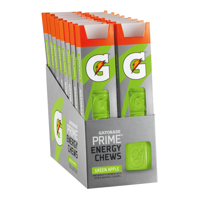 Gatorade Prime Energy Chews, Green Apple - 1 oz (Pack of 16)