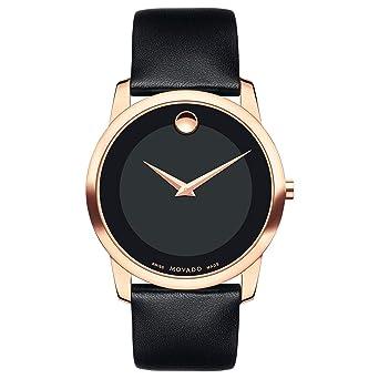 f3c1191de2d57 Amazon.com  Movado Men s Classic Museum - 0607078 Rose Gold One Size  Movado   Watches